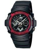 ขาย Casio G Shock นาฬิกาข้อมือ สายเรซิ่น รุ่น Aw 591 4Adr สีดำ แดง