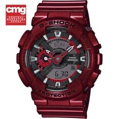 ขาย ซื้อ Casio G Shock นาฬิกาข้อมือผู้ชาย สีแดงเมทัลลิค ประกัน Cmg รุ่น Ga 110Nm 4A
