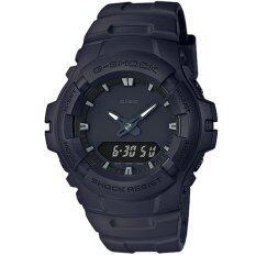 ราคา ราคาถูกที่สุด Casio G Shock นาฬิกาข้อมือผู้ชาย สายเรซิ่น รุ่น G 100Bb 1A สีดำ