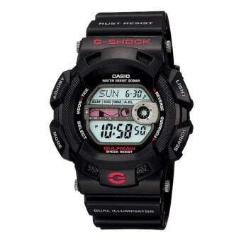 Casio G-Shock นาฬิกาข้อมือผู้ชาย สายเรซิ่น รุ่น G-9100,G-9100-1,G-9100-1DR - สีดำ