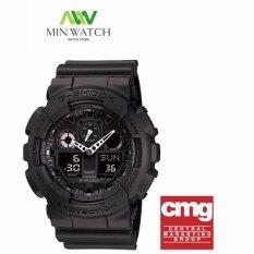 ราคา Casio G Shock นาฬิกาข้อมือผู้ชาย สีดำ สายเรซิ่น รุ่น Ga 100 1A1 ประกันCmg Casio G Shock ใหม่