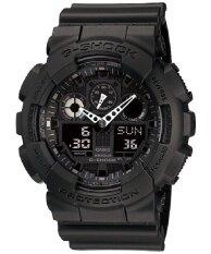 ทบทวน ที่สุด Casio G Shock นาฬิกาข้อผู้ชาย สีดำ สายเรซิน รุ่น Ga 100 1A1Dr