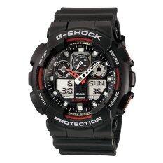ราคา Casio G Shock นาฬิกาข้อมือ รุ่น Ga 100 1A4Dr สีดำ แดง ถูก