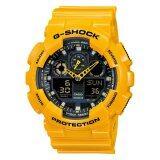 ซื้อ Casio G Shock นาฬิกาข้อมือผู้ชาย สายเรซิน รุ่น Ga 100A 9A สีเหลือง ไทย