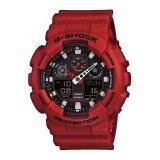 ราคา Casio G Shock นาฬิกาข้อมือผู้ชาย รุ่น Ga 100B 4Adr Red ใหม่