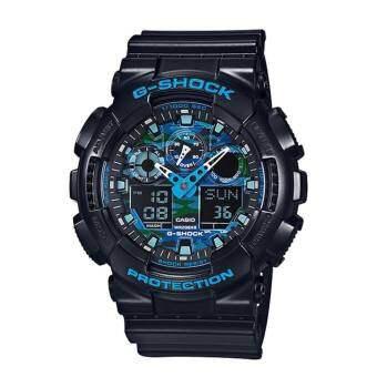 Casio G-Shock นาฬิกาข้อมือผู้ชาย สายเรซิ่น รุ่น GA-100CB-1A(CMG) - สีดำ