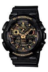 ราคา Casio G Shockนาฬิกาข้อมือผู้ชาย สีดำ สายเรซิ่น รุ่นGa 100Cf 1A9 ประกันCmg ใหม่ล่าสุด