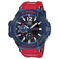 ส่วนลด Casio G Shock นาฬิกาข้อมือผู้ชายสาย เรซิ่นสีแดง รุ่น Ga 1100 2A Blue Red ประกัน Cmg Casio G Shock