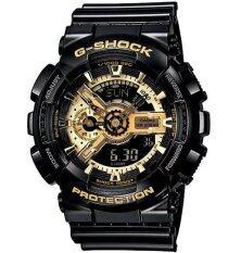 ขาย Casio G Shock นาฬิกาข้อมือผู้ชาย สีดำ สีทอง สายเรซิ่น รุ่นNga 110Gb 1Adr Casio G Shock ออนไลน์