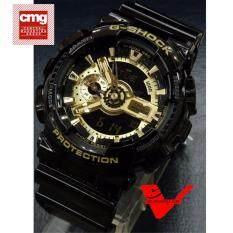 ซื้อ Casio G Shock นาฬิกาข้อมือผู้ชาย สายเรซิ่น รุ่น Ga 110Gb 1Adr สีดำ ทอง ถูก ใน Thailand
