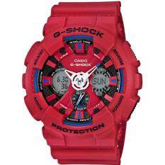 ซื้อ Casio G Shock นาฬิกาข้อมือผู้ชาย สายเรซิ่น รุ่น Ga 120Tr 4A สีแดง ใน ไทย