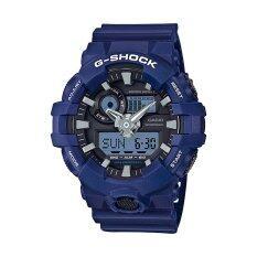 ราคา ราคาถูกที่สุด Casio G Shock นาฬิกาข้อมือผู้ชาย รุ่น Ga 700 2Adr สีน้ำเงิน
