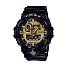 โปรโมชั่น Casio G Shock นาฬิกาข้อมือผู้ชาย รุ่น Ga 710Gb 1Adr สีดำ ทอง ถูก