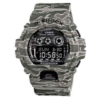 Casio G-Shock นาฬิกาข้อมือสุภาพบุรุษ สีเทาลายพราง สายเรซิน รุ่น GD-X6900CM-8DR
