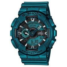 ซื้อ Casio G Shock Limited นาฬิกาข้อมือผู้ชาย สีเขียวเมทาลิค สายเรซิ่น รุ่น Ga 110Nm 3Adr ใน กรุงเทพมหานคร