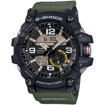 Casio G-Shock Men's Black and Green Resin Strap Watch GG-1000-1A3