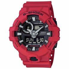 Casio G Shock Men S Watch Resin Strap Red Ga 700 4A Intl ใหม่ล่าสุด