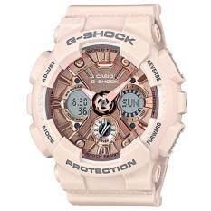 ราคา Casio G Shock Mini นาฬิกาข้อมือผู้หญิง สายเรซิ่น รุ่น Gmas120Mf 4A สีชมพู เป็นต้นฉบับ