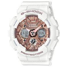 ซื้อ Casio G Shock Mini นาฬิกาข้อมือผู้หญิง สายเรซิ่น รุ่น Gmas120Mf 7A2 สีขาว ถูก