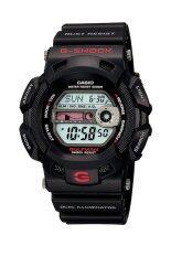 ราคา Casio G Shock นาฬิกาข้อมือผู้ชาย สายเรซิ่น รุ่น G 9100 1Dr Black ราคาถูกที่สุด