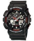 ซื้อ Casio G Shock นาฬิกาข้อมือผู้ชาย สายเรซิน รุ่น Ga 100 1A4Dr สีดำ ถูก ไทย