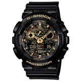 ราคา Casio G Shock นาฬิกาข้อมือผู้ชาย สายเรซิ่น รุ่น Ga 100Cf 1A9 สีดำ ถูก