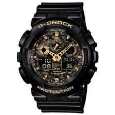 ซื้อ Casio G Shock นาฬิกาข้อมือผู้ชาย สายเรซิ่น รุ่น Ga 100Cf 1A9 สีดำ Casio G Shock ถูก