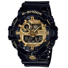 ซื้อ Casio G Shock นาฬิกาข้อมือผู้ชาย สายเรซิ่น รุ่น Ga 710Gb 1A สีดำ ทอง