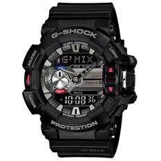 Casio G Shock นาฬิกาข้อมือผู้ชาย สายเรซิ่น รุ่น G Mix Gba 400 1A สีดำ ถูก