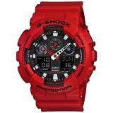 โปรโมชั่น Casio G Shock นาฬิกาข้อมือผู้ชาย สายเรซิน Standard Ana Digi รุ่น Ga 100B 4 Red ถูก