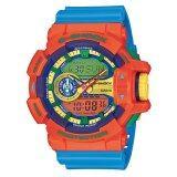 ราคา Casio G Shock นาฬิกาข้อมือผู้ชาย สีส้ม ฟ้า สายเรซิ่น รุ่น Ga 400 4Adr ประกัน Cmg Casio G Shock
