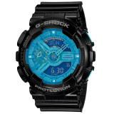 ราคา Casio G Shock นาฬิกาข้อมือ Standard Ana Digital รุ่น Ga 110B 1A2 สีดำ ฟ้า ถูก