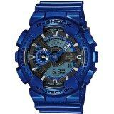 โปรโมชั่น Casio G Shock Neon Metallic Collection Blue Resin Band Watch Ga110Nm 2A Intl Thailand