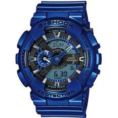 ส่วนลด สินค้า Casio G Shock Neon Metallic Collection Blue Resin Band Watch Ga110Nm 2A Intl