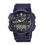 ขาย Casio General Men S Watch Blue Resin Band Aeq 110W 2A 100M World Time Digital Analog Sports Watch Intl Casio ออนไลน์