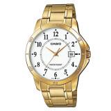 Casio Gent Quartz นาฬิกาข้อมือผู้ชาย สีทอง สายสแตนเลส รุ่นMtp V004G 7Budf เป็นต้นฉบับ