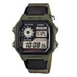 ซื้อ Casio นาฬิกาข้อมือผู้ชาย Green สายผ้า รุ่น Ae 1200Whb 3Bvdf ใน กรุงเทพมหานคร