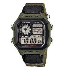 ส่วนลด Casio นาฬิกาข้อมือผู้ชาย Green สายผ้า รุ่น Ae 1200Whb 3Bvdf Casio กรุงเทพมหานคร