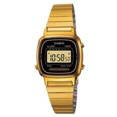 โปรโมชั่น Casio นาฬิกาสำหรับผู้หญิง La670Wga 1Df ทอง สายสแตนเลส ใน กรุงเทพมหานคร