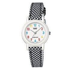 ราคา Casio นาฬิกาข้อมือ สายหนังผสมผ้า สีดำ ลายตาราง รุ่น Lq 139Lb 1Bdf Casio เป็นต้นฉบับ