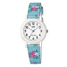 โปรโมชั่น Casio นาฬิกาข้อมือ สายหนังผสมผ้า รุ่น Lq 139Lb 2B2Dfn สีฟ้า ลายดอกไม้ Casio ใหม่ล่าสุด
