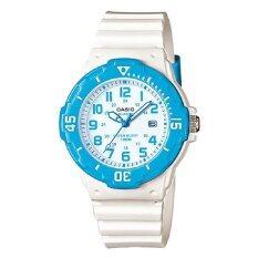 ขาย Casio นาฬิกาข้อมือ สายเรซิ่น สีขาว ฟ้า รุ่น Lrw 200H 2Bvdf ไทย
