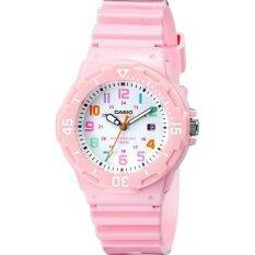 ราคา Casio นาฬิกาข้อมือผู้หญิง สายเรซิ่น รุ่น Lrw 200H 4B2 สีชมพู ใหม่