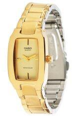 ราคา Casio นาฬิกาข้อมือผู้หญิง สายแสตนเลส รุ่น Ltp 1165N 9 สีทอง ใหม่