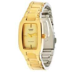 ราคา Casio นาฬิกาข้อมือผู้หญิง สายสแตนเลสสีทอง รุ่น Ltp 1165N 9Crdf เป็นต้นฉบับ Casio Standard