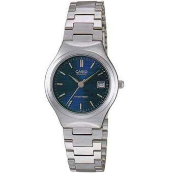 Casio นาฬิกาข้อมือผู้หญิง สายสแตนเลส สีเงิน รุ่น LTP-1170A-2A ( Blue/Silver )