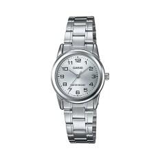 ราคา Casio นาฬิกาข้อมือผู้หญิง รุ่น Ltp V001D 7Budf Silver สีเงิน เป็นต้นฉบับ Casio