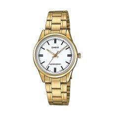 ขาย Casio นาฬิกาข้อมือผู้หญิง รุ่น Ltp V005G 7Audf สีทอง Casio เป็นต้นฉบับ
