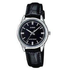 ราคา Casio นาฬิกาข้อมือ ผู้หญิง สายหนัง สีดำ รุ่น Ltp V005L 1Audf Casio สมุทรปราการ