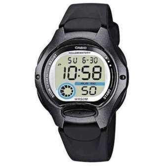 Casio นาฬิกาข้อมือผู้หญิง สีดำ สายเรซิน รุ่น LW-200-1B